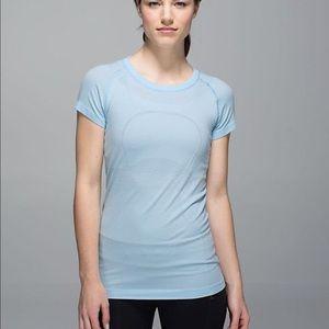 Lululemon Light Blue Swiftly Tech T-shirt